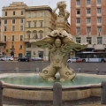 Фонтан тритона на площі барберіні в римі, італія. Історія фонтану. Fontana del tritone на фото. »Карта мандрівника