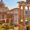Храм світу в римі або форум веспасіана, італія. Фото храму. »Карта мандрівника