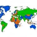 Карта світу: найпопулярніші браузери