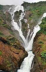 Водоспад дудхсагар в гоа